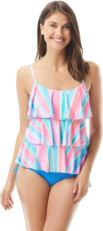 Ruffle Tankini Top — Figure Flattering, Modest Tankini Swimsuit Top, Jane