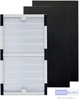 Pureburg Replacement HEPA Filter and 2 pre-Cut Carbon Filters for Idylis IAF-H-100C IAP-10-200 IAP-10-280