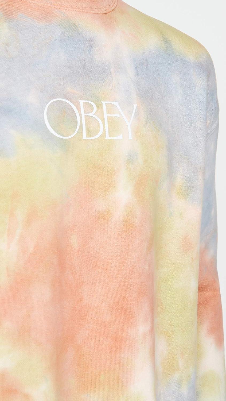 Obey Mens Premium Crew Fleece Tie-Dye