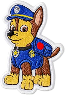 PAW Patrol Chase Embroidered Patch Iron On (2.7