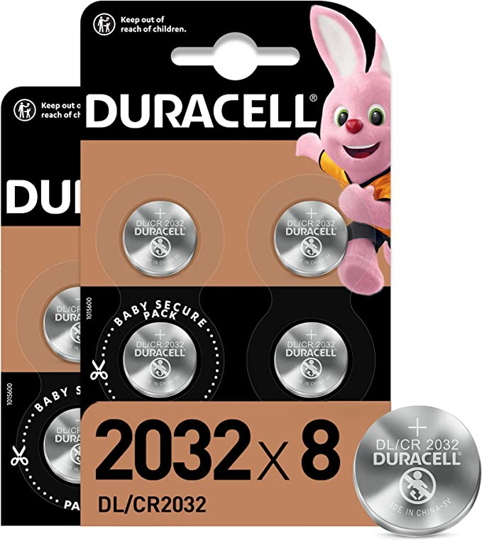 160628 opiniones para Duracell- Pilas de botón de litio 2032 de 3 V, paquete de 8, con Tecnología Baby