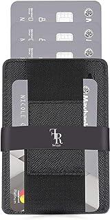 Tarjetero para hombre con compartimento para monedas, de piel con bolsillo, hasta 7 tarjetas de crédito Negro elegante. 7c...