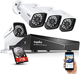 SANNCE 1080P Full HD Security Camera System with 1TB Hard Drive, Four 1920TVL Outdoor CCTV Cameras, Easy PoE Installation,...
