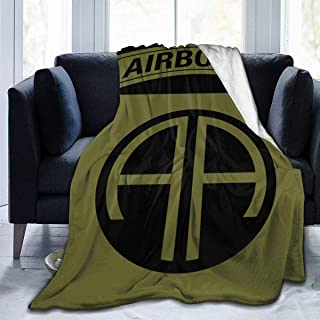 MyHaru Ultra-Soft Micro Fleece Blanket, 82nd Airborne Division Military Logo 2 Blanket for Adults Children 80
