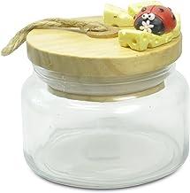 Paolo przezroczyste 18013 puszka na ser, biedronka, wielokolorowa, 10 x 10 x 11 cm