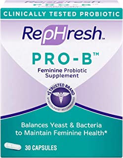 RepHresh Pro B Probiotic Supplement for Women, 30 Oral Capsules