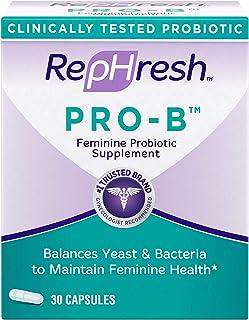 RepHresh Pro-B Probiotic Feminine Supplement, 30-Count Capsules by Rephresh