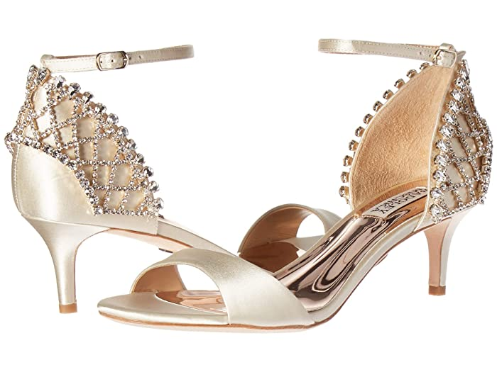 Badgley Mischka  Adora (Ivory Satin) High Heels