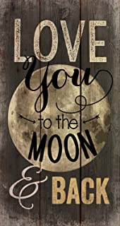 P. Graham Dunn Love You to The Moon Distressed 20 x 11 Wood Pallet Wall Art Sign Plaque