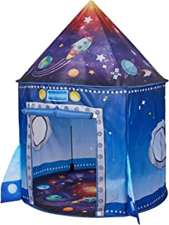 JS-KIDSEZ Premium Rocket Ship Kids Tent, a Pop Up Play Toy Tent for Kids, a Large Space Indoor Outdoor Playhouse. Unique P...