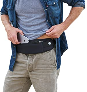 Mind and Body Experts The Belt of Orion - Travel/Running Belt Waist Fanny Pack - Hands Free Way to Carry Phone, Passport, Keys, ID, Money & Everyday Essentials - Adjustable, Water Resistant (Black)