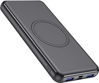 モバイルバッテリー ワイヤレス充電対応 大容量 【PSE認証済み+2年保証付き】26800mah 18W急速充電 PD3.0 & QC3.0 USB-C出入力ポート 携帯充電器 薄型 小型 iPhone12/iPhone/iPad/Androi...