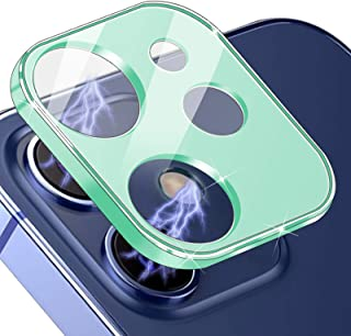 """JOLOJO Metal Camera Lens Protector Full Coverage Compatible for iPhone 12 (6.1"""") Accessories Tempered Glass Screen Protect..."""