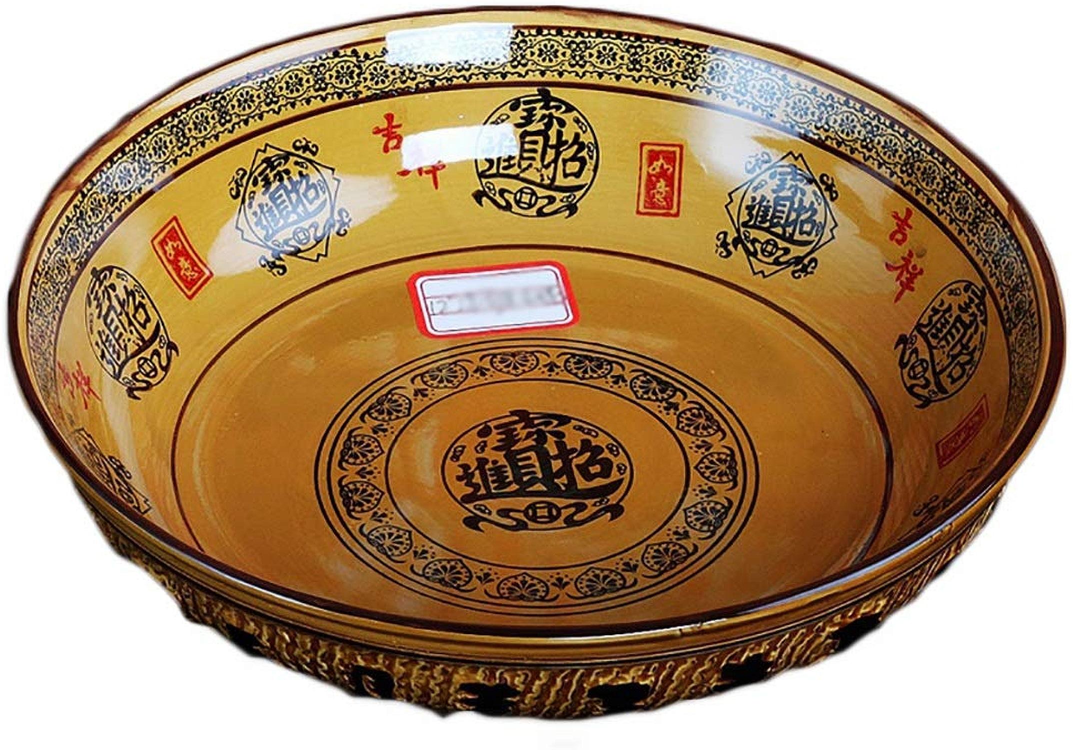 Cuisine et repas Bol en céramique, bol à salade, bol à raHommes rétro domestique, grand bol de bol à soupe (taille   32.5cm)