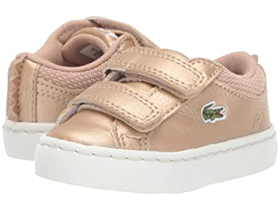 Lacoste Kids Straightset 319 1 (Toddler/Little Kid) (Gold/Off-White) Kid