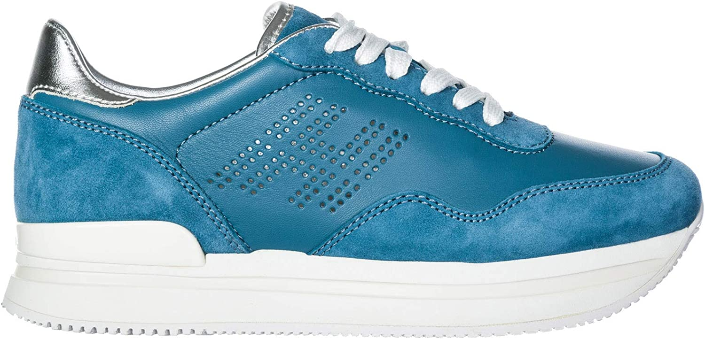 Hogan Women H222 Wedge Sneakers blue