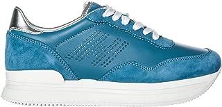 Women H222 Wedge Sneakers blu