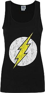 Flash - Camiseta de Tirantes con diseño de Logo para Mujer
