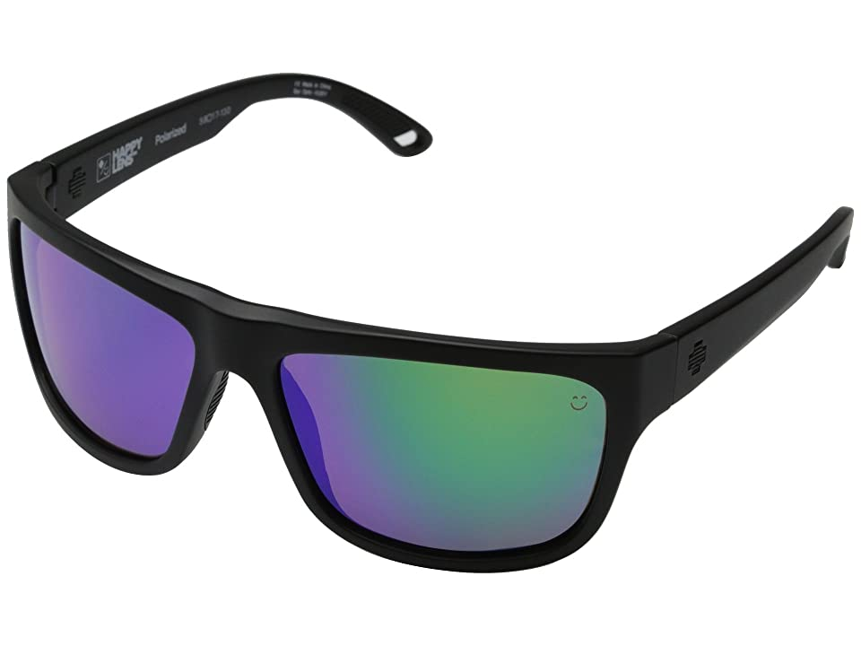 Spy Optic Angler Polarized (Matte Black/Happy Bronze Polar w/ Green Spectra) Polarized Fashion Sunglasses