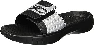Under Armour Men's Curry 4 Slides Sandal, Black (002)/Black, 13