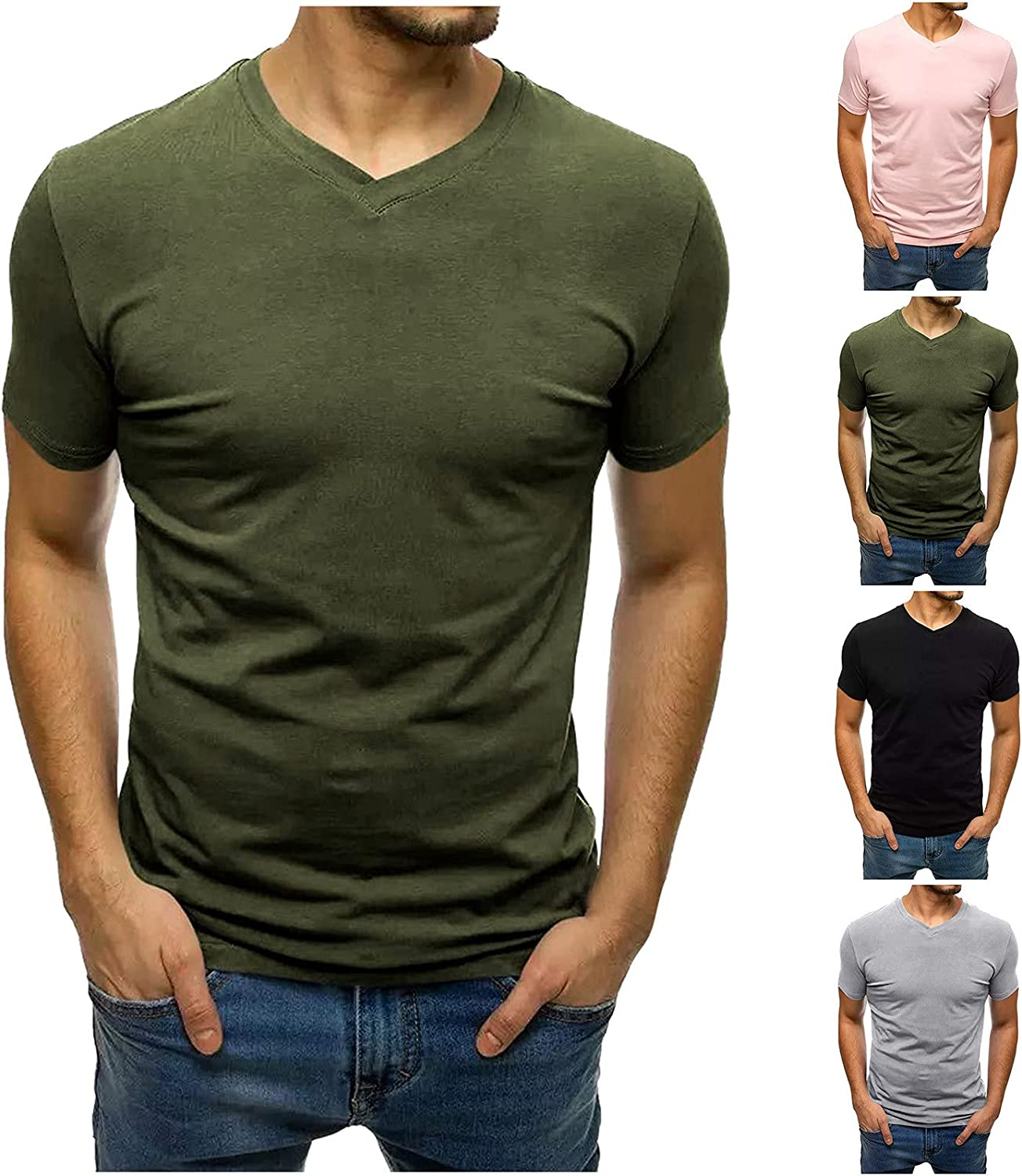 Lovor Men's Eco Element Tee, Slim-Fit,Swift Short Sleeve   Workout Shirts for Men with Anti-Odor, Moisture Wicking Technology