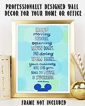 "Walt Disney Quotes Wall Art- ""Keep Moving Forward To Success!""- 8 x 10"