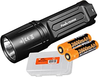 Fenix TK35 Ultimate Edition 2018 3200 Lumens Rechargeable LED Flashlight w/ 2X Genuine Rechargeable Batteries & Lumen Tactical Battery Organizer