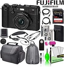 Fujifilm X100F 24.3MP Point & Shoot Digital Camera (Black) (16534651) USA Model Bundle with SanDisk 64GB Extreme PRO SD Ca...