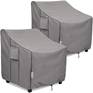 BOLTLINK Patio Chair Covers Waterproof, Heavy Duty Outdoor Furniture Covers Fits up to 29W x 30D x 36H inches -2 Pack