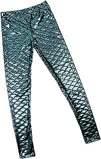 女性 マーメイド レギンス 光沢のある 人魚 弾性 タイツ ロングパンツ ストッキング ズボン 伸縮性 全5サイズ選べる