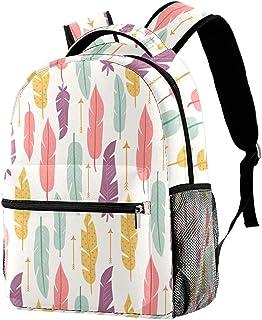 حقيبة ظهر خفيفة الوزن حقيبة مدرسية للكلية حقيبة كمبيوتر محمول Daypack للبالغين والأطفال ريش حقيبة ظهر عادية