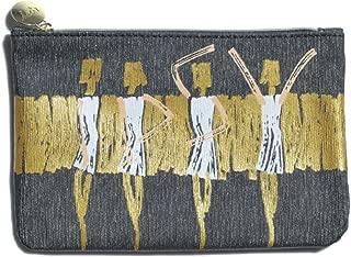 Ipsy Zippered Shimmer Makeup Bag - September 2016 - Black Gold Dancer Ballerina