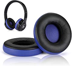 Beats Solo 2 3 Earpad Replacement,Cypher.V Ear Cushion Pads Compatible with Solo 2.0 3.0 Wireless Headphones by Dr. Dre 1 Pair (Black Blue)
