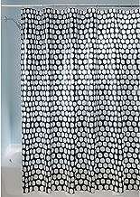 InterDesign 180 x 200 cm Honeycomb Shower Curtain, Black