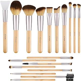 BESTOPE Makeup Brushes 17Pcs Bamboo Handle Makeup Brush Set with 1 Pcs Silicone Face Mask..