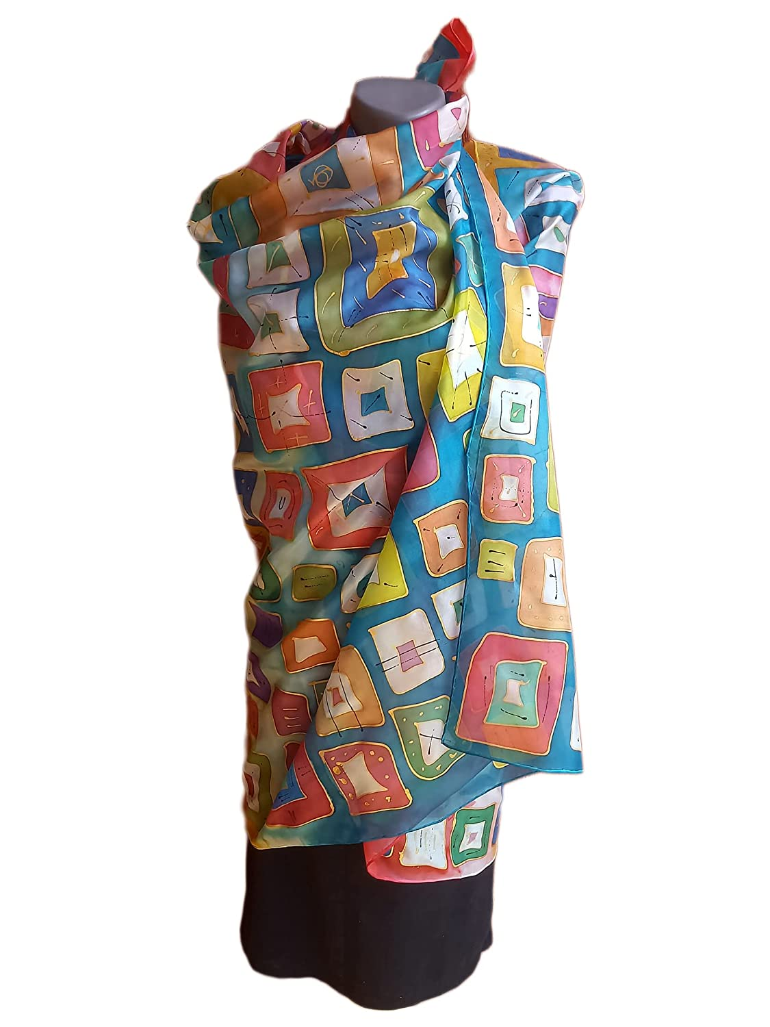 COLORFUL START Hand-Painted Same day shipping Silk Scarf Woman S Pure Ranking TOP17