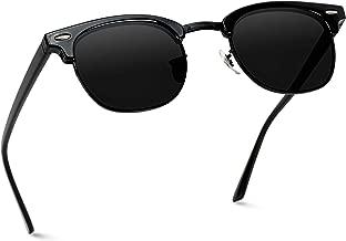 WearMe Pro Men's Classic Half Frame Polarized Semi Rimless Rimmed Sunglasses