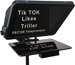 16-inch Large Teleprompter, for All Models iPad and Smartphones, 70/30 Beam Splitter Glass, Aluminum Body and a Suitcase, ...