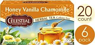 Celestial Seasonings Herbal Tea, Honey Vanilla Chamomile, 20 Count (Pack of 6)