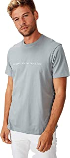 Cotton On Men's Graphic T-shirt, Citadel/Tokyo & Paris