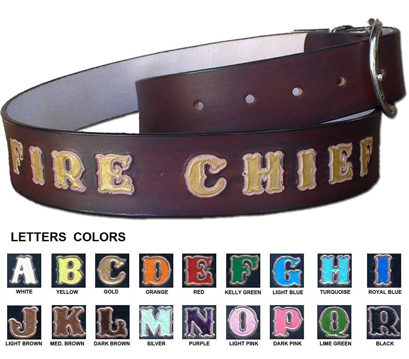 Brown Leather Belt - Custom made Leather Belt Personalized with Your Name/Text - Made in USA by Pitka Leather