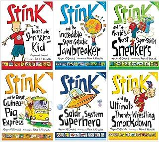 Stink 6 Book Set: Incredible Shrinking Kid / Super-galactic Jawbreaker / World's Worst Super-stinky Sneakers / Great Guine...