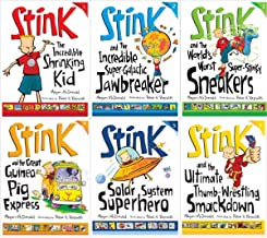 Stink 6 Book Set: Incredible Shrinking Kid / Super-galactic Jawbreaker / World's Worst Super-stinky Sneakers / Great Guine...
