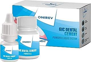 Onirev Ciment Dentaire (GIC) - Permanent - Rebouchement & Fixation Qualité Supérieur- Garantie de Satisfaction