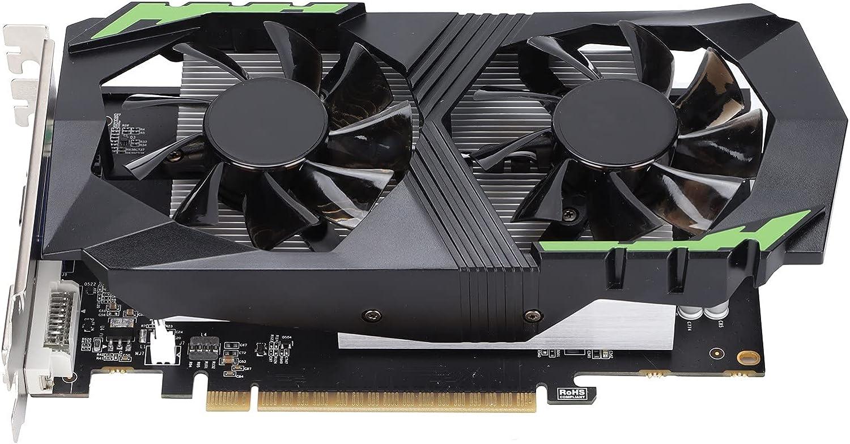 Tarjeta Gráfica GTX 1050 Ti, Gráfico de Juego de 4 GB DDR5 de 128 bits con Doble Ventilador Chip de Reconocimiento Automático para PCI Express 2.0, Conecta Y Reproduce