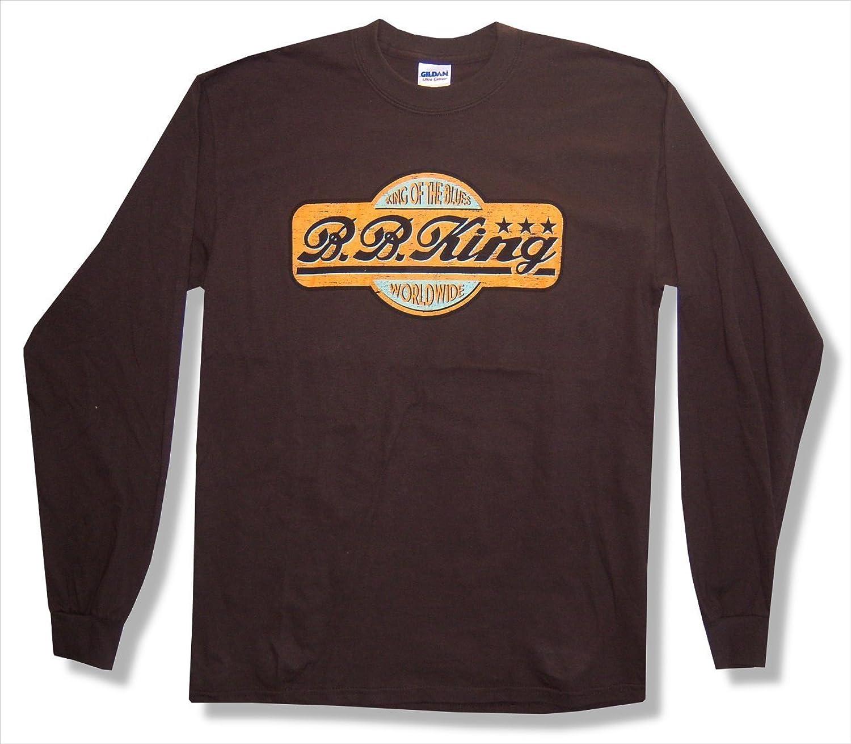 d2a7007067b8 BB King Worldwide 2010 Tour Brown Long Long Long Sleeve T-Shirt New Adult  5bb470
