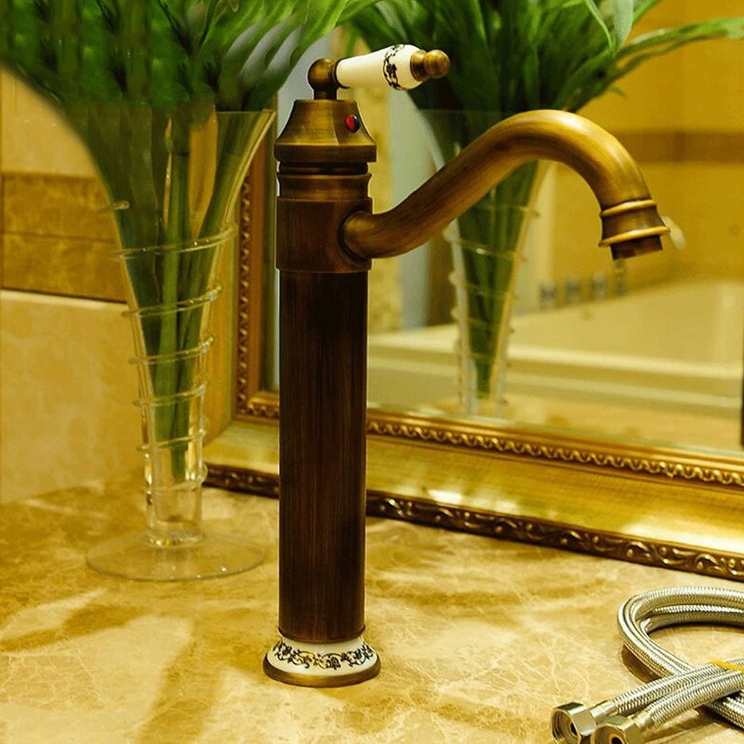 Rollsnownow Retro dark yellow hot and cold faucet