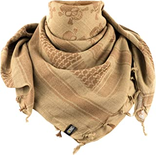 Shemagh Pirate Skull Tactical Desert Head Scarf Neck Wrap Keffiyeh with Jolly Roger