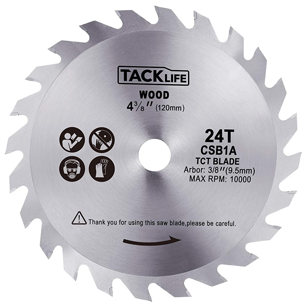 暗記する恐怖振る舞うTACKLIFE チップソー 120*24P 木工用 TCS115Aマルノコに適用 内径9.5mm CSB1A