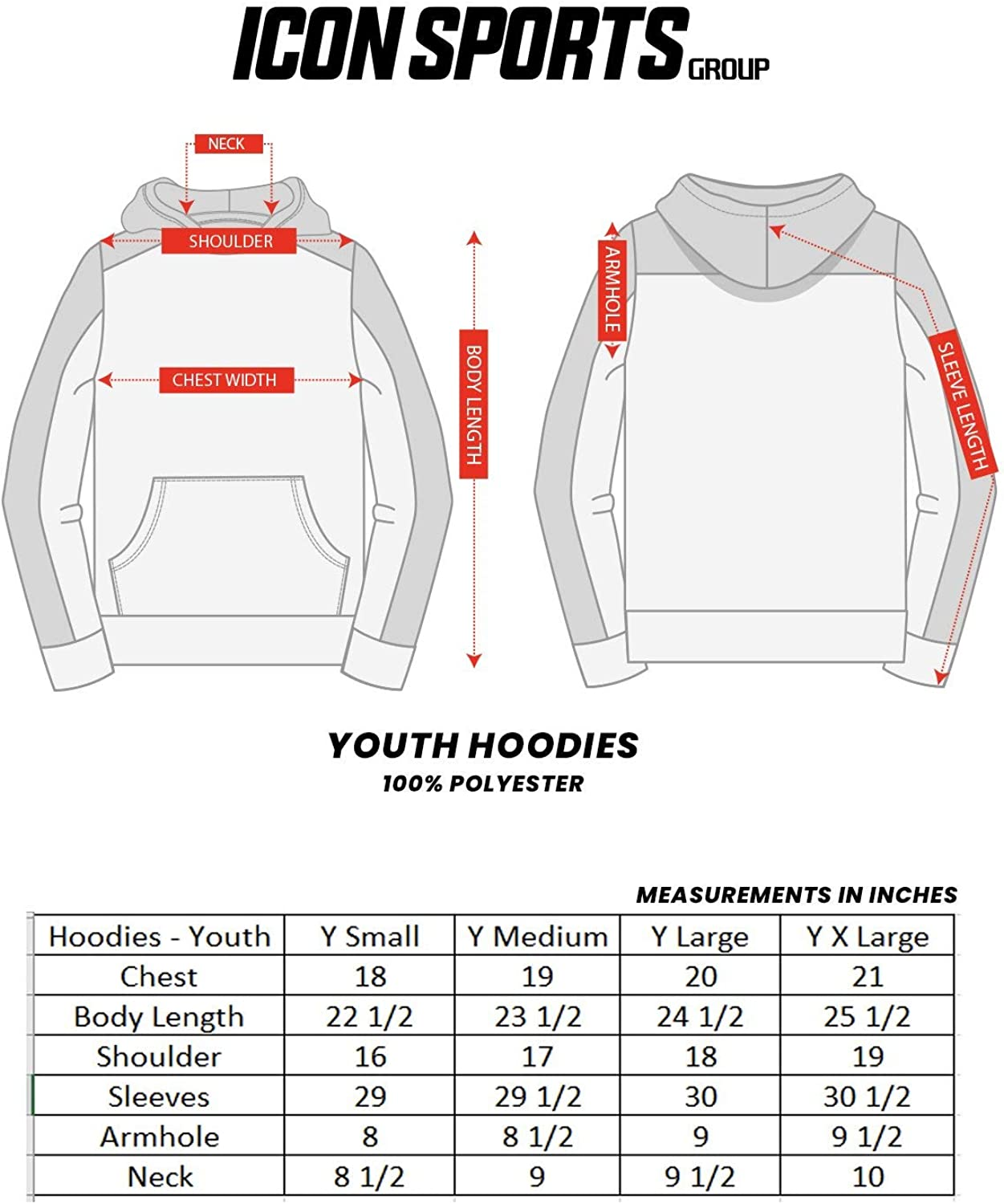 Icon Sports Boy's Youth Casual UEFA Champions League Active Sports World Soccer Side Step Pullover Sweatshirt Hoodie